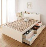【組立設置費込】 日本製_棚・コンセント付き大容量すのこチェストベッド【Salvato】サルバト