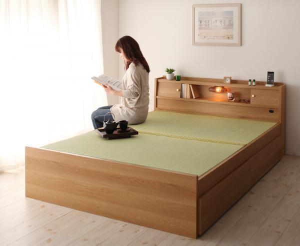 高さが変えられる棚・照明・コンセント・畳ベッド【泰然】たいぜん