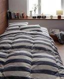 日本製 インド綿100%の丸ごと洗える寝具セット 北欧風先染めボーダーデザイン【ORNER】オルネ