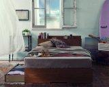 棚・コンセント付き収納ベッド【Arcadia】アーケディア