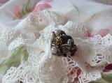 手作りオルゴナイトアクセサリー アンティーク調 天使のリング