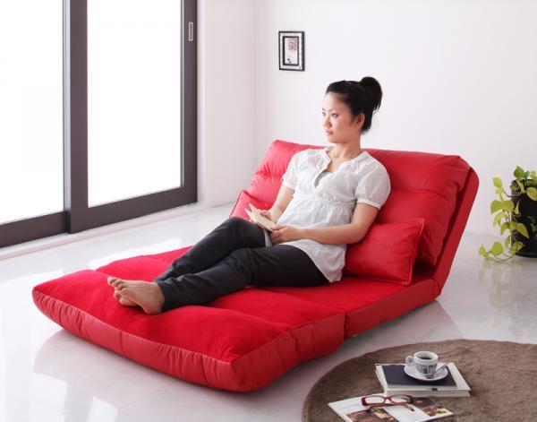 コンパクトフロアリクライニングソファベッド【Luxer】リュクサー