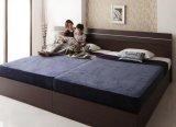家族で寝られるホテル風モダンデザインベッド【Confianza】コンフィアンサ