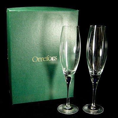 <b>オレフォス</b>ORREFORS インターメッツォ ペアワイングラス共箱付 <b>...</b>