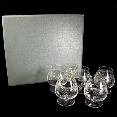 サンルイSAINT LOUIS/クリスタルブランデーグラス5客セット/未使用・箱付 - ブランド