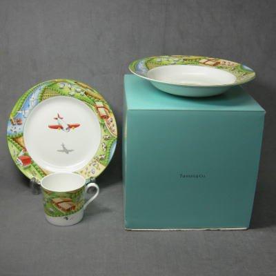 ティファニーTIFFANY FARM 食器3点セット(マグカップ+プレート+深皿)