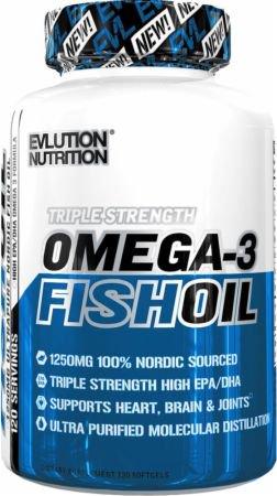 EVLUTION NUTRITION・オメガ-3フィッシュオイル(120ソフトジェル)