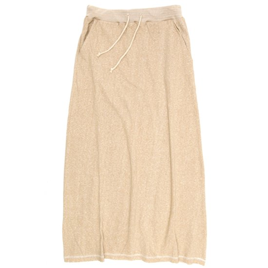 A HOPE HEMP レディース Melange Long Skirt (Beige)