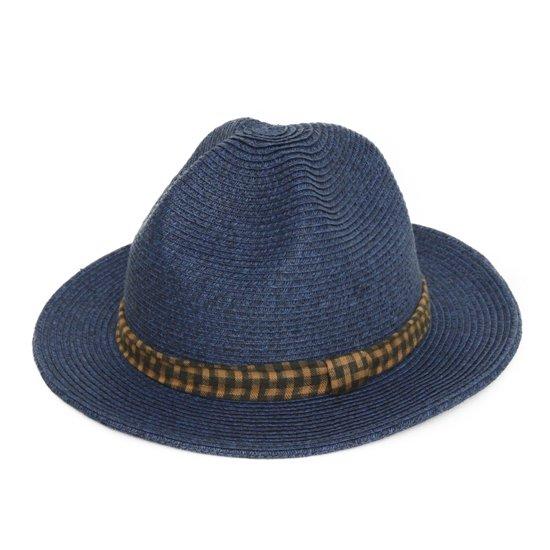 GO HEMP MOUNTAIN HAT CHECK (NAVY)