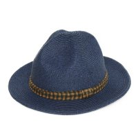 GO HEMP MOUNTAIN HAT CHECK (NAVY)
