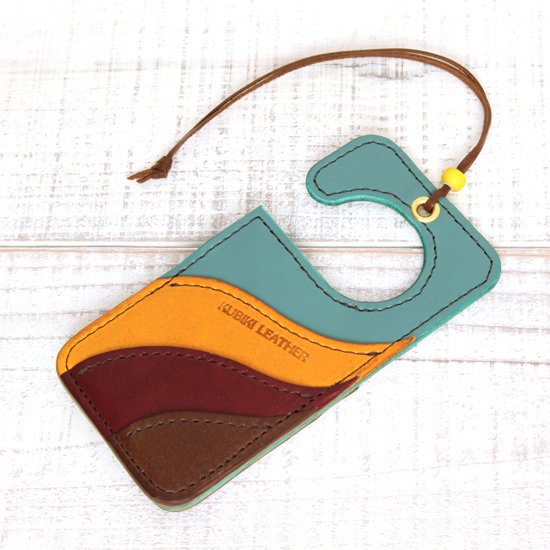 KUBIKI LEATHER AIR FRESHENER (TURQUOISE)