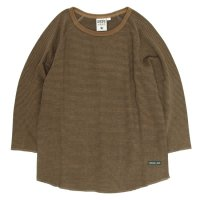 A HOPE HEMP Stripe Raglan 3/4 Tee (Earth)