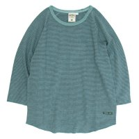 A HOPE HEMP Stripe Raglan 3/4 Tee (Rain Forest)
