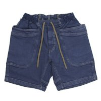 GO HEMP VENDER CHILL SHORTS H/C STRETCH (JEANS BLUE)