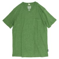 GO HEMP V-NECK PK TEE (KELLY GREEN)