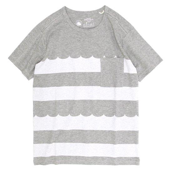 rulezpeeps Wave Border Tee (Charcoal Gray)
