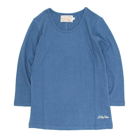 A HOPE HEMP レディース  Set in 3/4 Women's Tee (Indigo)