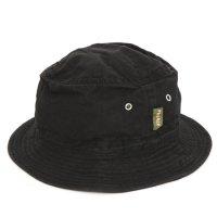 Phatee BUCKET HAT (BLACK FLAT)(ファティウェア)