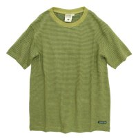A HOPE HEMP Regular Stripe S/S Tee (Sage Green)(アホープヘンプ)