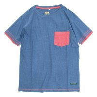 A HOPE HEMP Layer Pocket S/S Tee (Indigo)(アホープヘンプ)