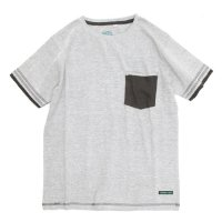 A HOPE HEMP Layer Pocket S/S Tee (Ashed Gray)(アホープヘンプ)