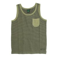 A HOPE HEMP Stripe Pocket Tank Top (Rat Sage)(アホープヘンプ)