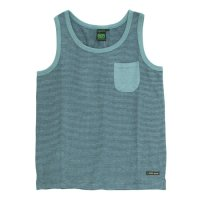 A HOPE HEMP Stripe Pocket Tank Top (Rain Forest)(アホープヘンプ)