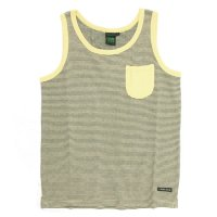 A HOPE HEMP Stripe Pocket Tank Top (Harvest)(アホープヘンプ)