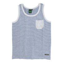 A HOPE HEMP Stripe Pocket Tank Top (Ashed Gray)(アホープヘンプ)