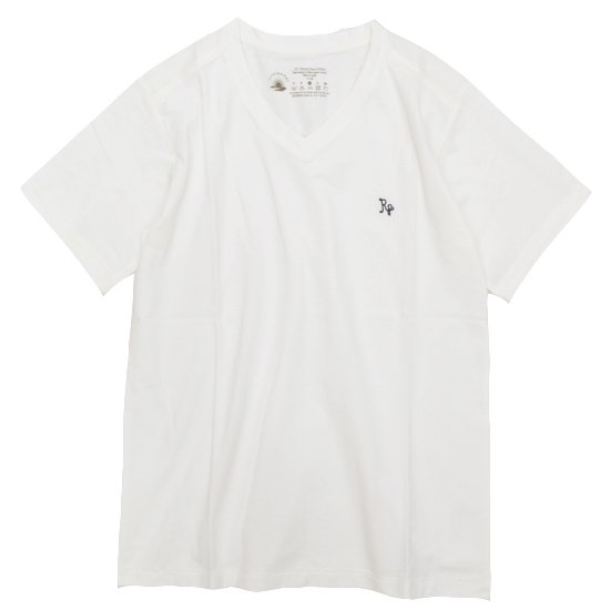 rulezpeeps 24COTTON V NECK TEE (WHITE)(ルールズピープス)