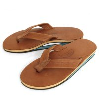 Rainbow Sandals Double Layer Classic Leather SANDAL (Tan Blue)(レインボーサンダル)