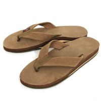 Rainbow Sandals Double Layer Premier Leather SANDAL (Dark Brown)(レインボーサンダル)