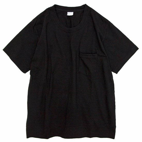 ORDINARY FITS POCKET Tee S/S (ブラック)(オーディナリーフィッツ)(ポケットTEE)