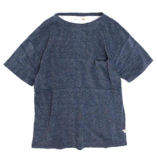 melple カリフォルニアパイルボートネック (ブルー)(メイプル)(Tシャツ)