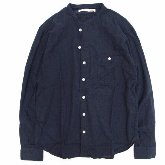melple Wガーゼ スキッパーシャツ (ネイビー)(メイプル)(シャツ)