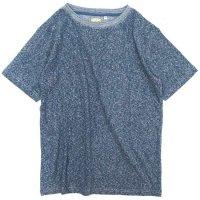A HOPE HEMP Melange Basic S/S Tee (ロイヤルブルー)(アホープヘンプ)(Tシャツ)