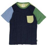 GO HEMP COMBI MULTI S/SL PK TEE (マリンネイビー)(ゴーヘンプ)(Tシャツ)