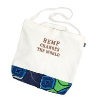 GO HEMP 2WAY TOTE HEMP CHANGES THE WORLD (ゴーヘンプ)(トートバッグ)