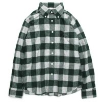 SPINNER BAIT(スピナーベイト) ブロックチェック エイタL/Sシャツ (グリーン)(ネルシャツ)