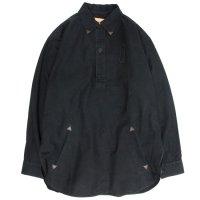 Nasngwam(ナスングワム) SWEDE SHIRTS (ブラック)(リメイクシャツ)