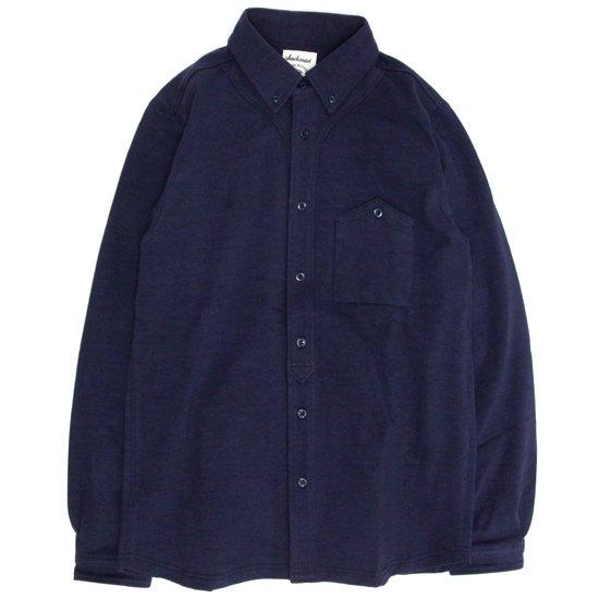 Jackman(ジャックマン) JM3600 Stretch Baseball Shirt (ネイビー)(シャツ)