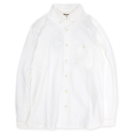 Jackman(ジャックマン) JM3600 Stretch Baseball Shirt (ホワイト)(シャツ)