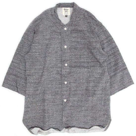 Jackman(ジャックマン) JM3605 Dotsume Baseball Shirt (チャコール)(五分袖シャツ)