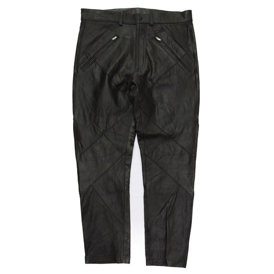 Nasngwam(ナスングワム) HIDE ZIP LEATHER PANTS (ブラック)(レザーパンツ)
