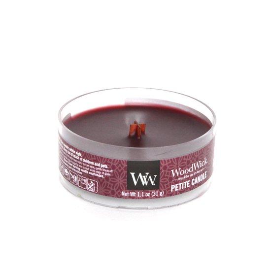 Wood Wick(ウッドウィック) PETITE CANDLE (ブラックチェリー)(音のするキャンドル)