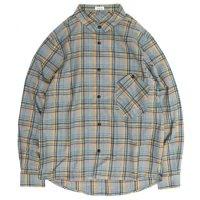 rulezpeeps(ルールズピープス) COTTON CHECK GOODAY SHIRTS L/S (ブルー)(ネルシャツ)