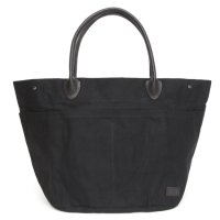 hobo(ホーボー) Paraffin Coated Cotton Canvas #9 Tote Bag L (ブラック)(トートバッグ)