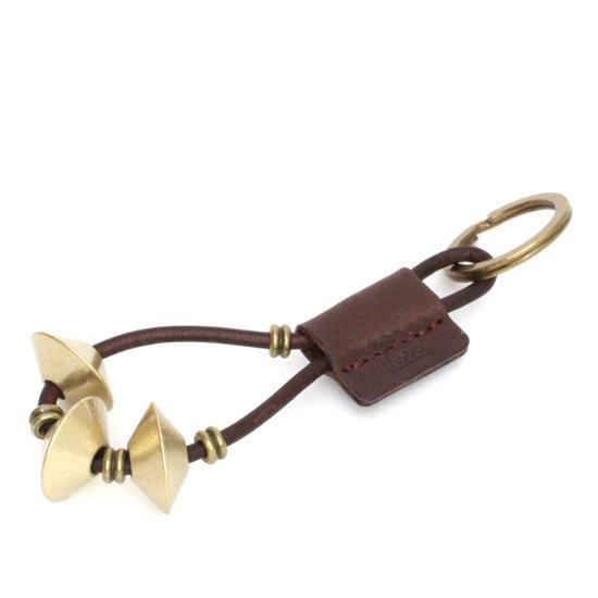 hobo(ホーボー) Brass Diamond Beads Key Ring (ブラウン)(真鍮)(キーホルダー)