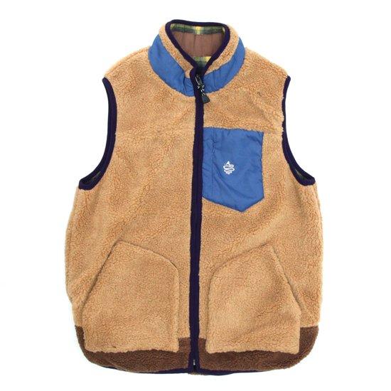 ALDIES(アールディーズ) Festival Boa Vest (ベージュ)(ベスト)(リバーシブル)