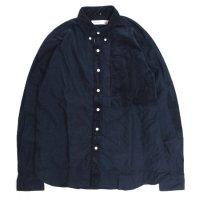 melple(メイプル) 切り替えB/Dシャツ (ネイビー)(ボタンダウンシャツ)